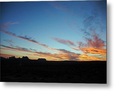 Monument Valley Sunset 2 Metal Print