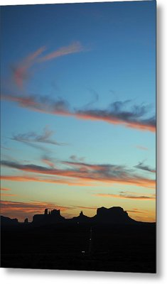 Monument Valley Sunset 3 Metal Print