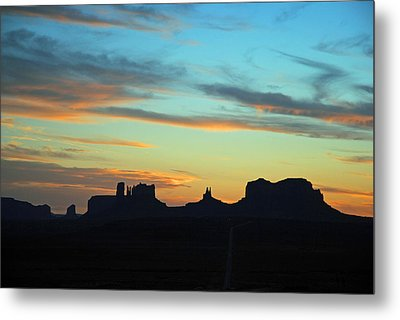 Monument Valley Sunset 4  Metal Print
