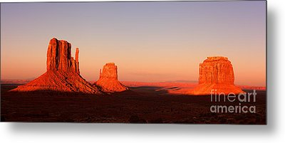 Monument Valley Sunset Pano Metal Print
