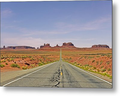 Monument Valley - The Classic View Metal Print by Christine Till