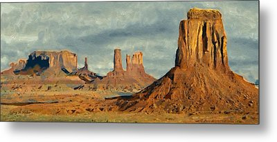 Metal Print featuring the painting Monumental by Jeff Kolker