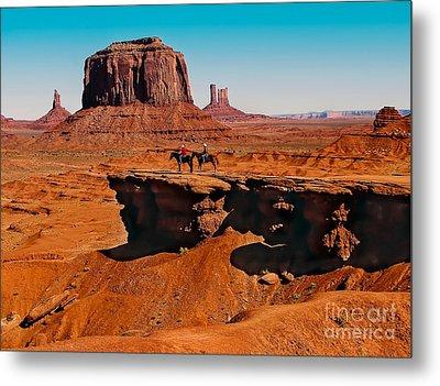 Monumental Valley View Metal Print by Robert Bales