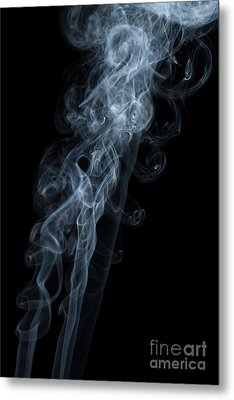 Abstract Vertical White Mood Colored Smoke Wall Art 01 Metal Print