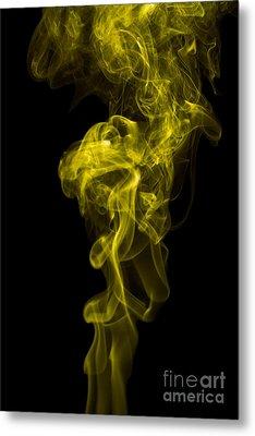 Mood Colored Abstract Vertical Yellow Smoke Wall Art 01 Metal Print by Alexandra K