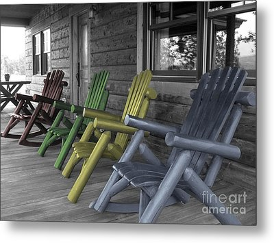 Mood Seating Metal Print