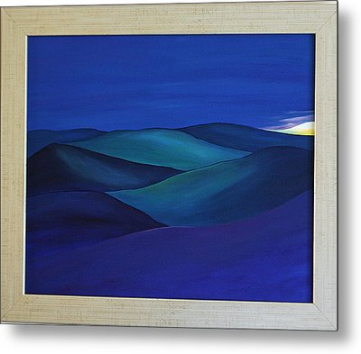 Moody Blue Metal Print by Aileen Carruthers