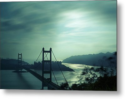 Metal Print featuring the photograph Moody Bridge by Afrison Ma