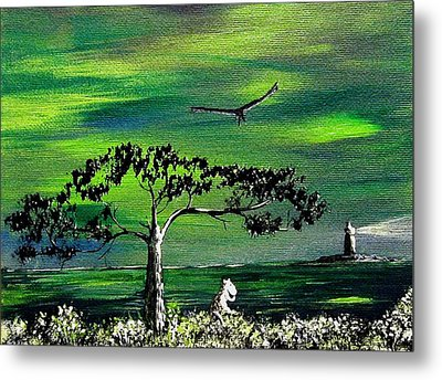 Moomintroll And Lighthouse Metal Print