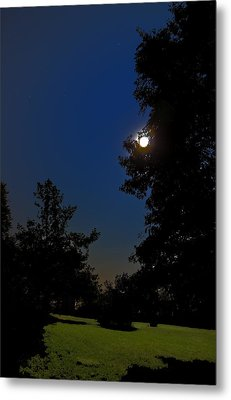 Metal Print featuring the photograph Moon And Pegasus by Greg Reed