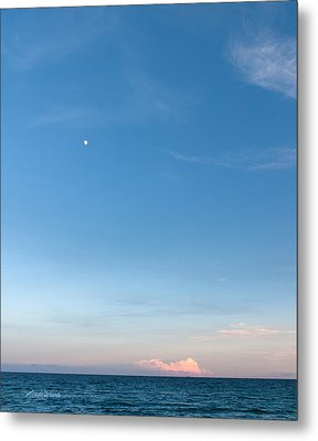 Moon And Pink Cloud Metal Print by Michelle Wiarda