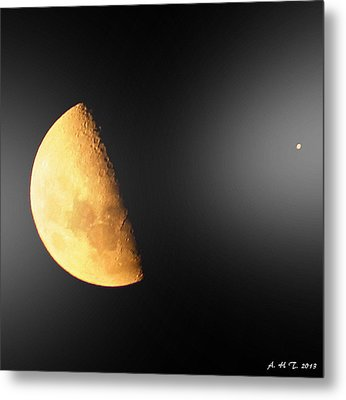 Metal Print featuring the photograph Moon And Star Converse by Amanda Holmes Tzafrir