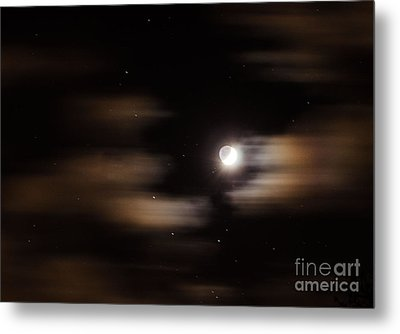 Metal Print featuring the photograph Moon And Stars II by Judy Wolinsky