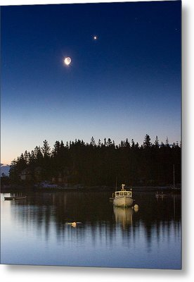 Moon And Venus Over Five Islands Metal Print