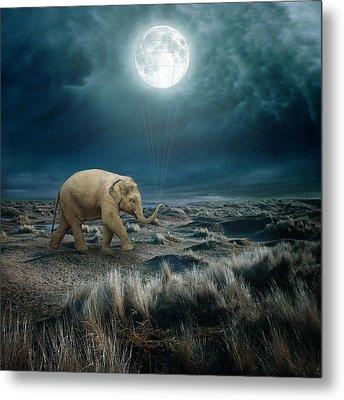 Moon Metal Print by Beata Bieniak