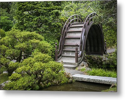 Moon Bridge - Japanese Tea Garden Metal Print by Adam Romanowicz