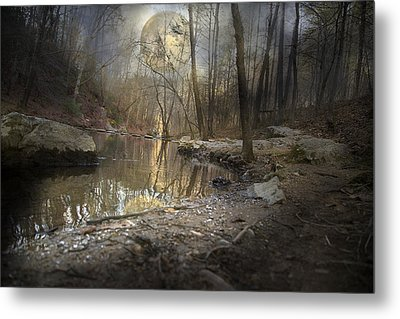 Moon Camp Metal Print by Betsy Knapp