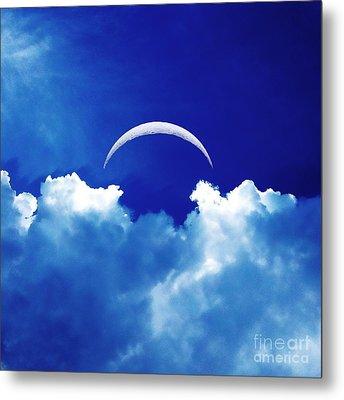 Moon Cloud Metal Print