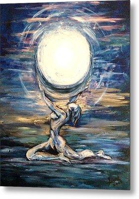 Moon Goddess Metal Print by Karen  Ferrand Carroll