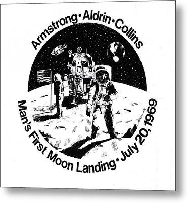 Moon Landing Metal Print by J W Kelly