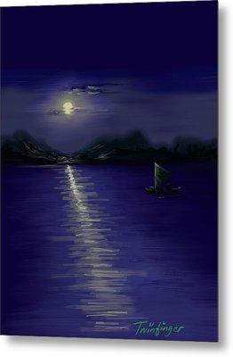 Moon Light Metal Print by Twinfinger