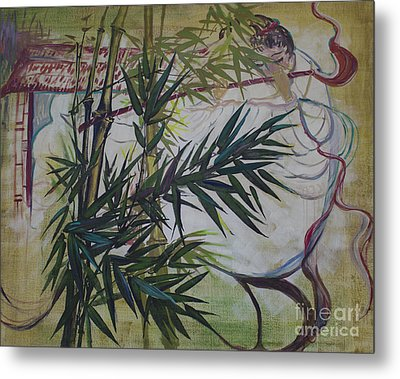 Moon Lovers With Flute  Metal Print