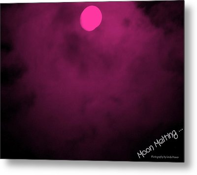 Moon Melting Metal Print by Linda Prewer