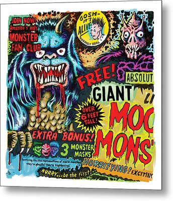 Moon Monster Metal Print by Vince Bonavoglia