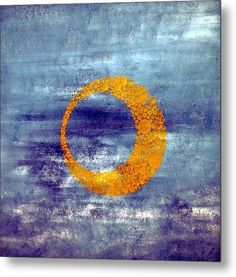 Metal Print featuring the painting Moon by Nico Bielow