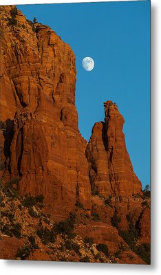 Moon Over Chicken Point Metal Print by Ed Gleichman