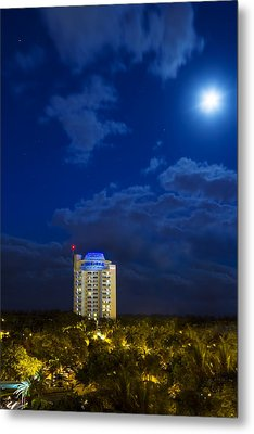 Moon Over Ft. Lauderdale Metal Print