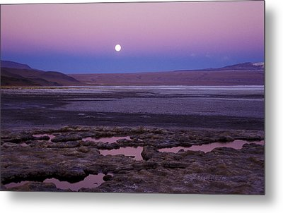Metal Print featuring the photograph Moon Over Laguna Colorada by Lana Enderle
