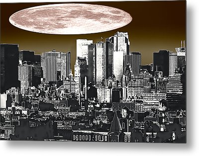Moon Over Manhattan Metal Print by Kellice Swaggerty