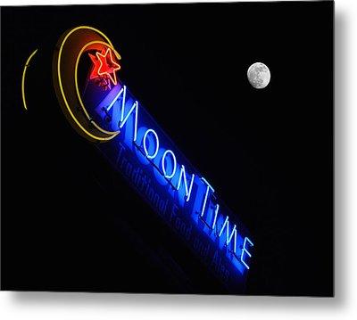 Moon Over Moon Time Metal Print