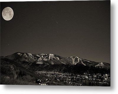 Moon Over Mt. Werner Metal Print by Matt Helm