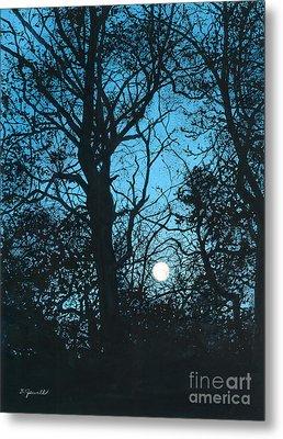 Moon Over Pittsburgh Metal Print by Barbara Jewell