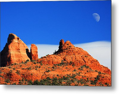 Metal Print featuring the photograph Moon Over Sedona by Tom Kelly
