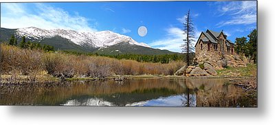 Moon Over St. Malo Metal Print by Shane Bechler