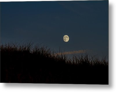 Moon Over The Dunes Metal Print