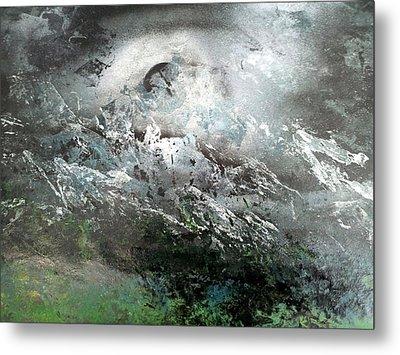 Moon Over The Mountains Metal Print