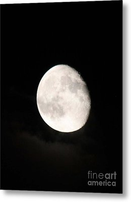 Moon Photographed In Black And White Metal Print by John Telfer