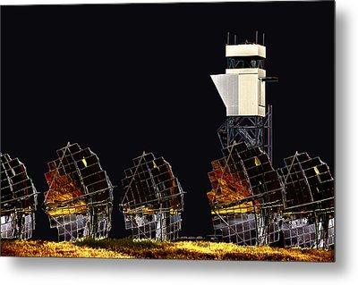 Moon Power Metal Print by John Monteath