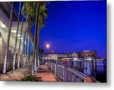 Moon Rise Over Harbor Island Metal Print by Marvin Spates