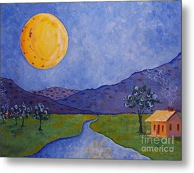 Moon River Metal Print