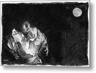 Moon Shadow Metal Print by George Rossidis
