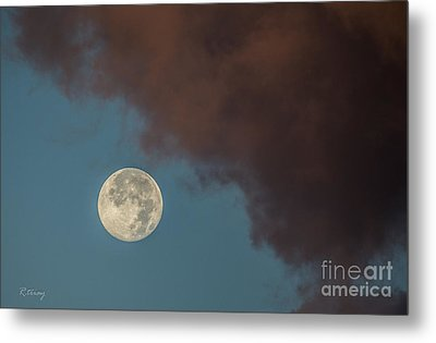 Moon Transition From Night To Day Metal Print by Rene Triay Photography