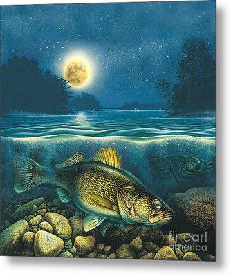 Moon Walleye 4 Metal Print