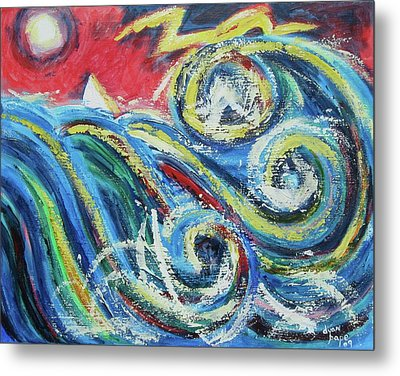 Moonlight And Chaos Metal Print