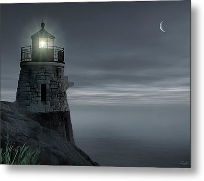 Moonlight At Castle Hill Metal Print by Lourry Legarde