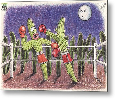 Moonlight Fight Metal Print by Cristophers Dream Artistry